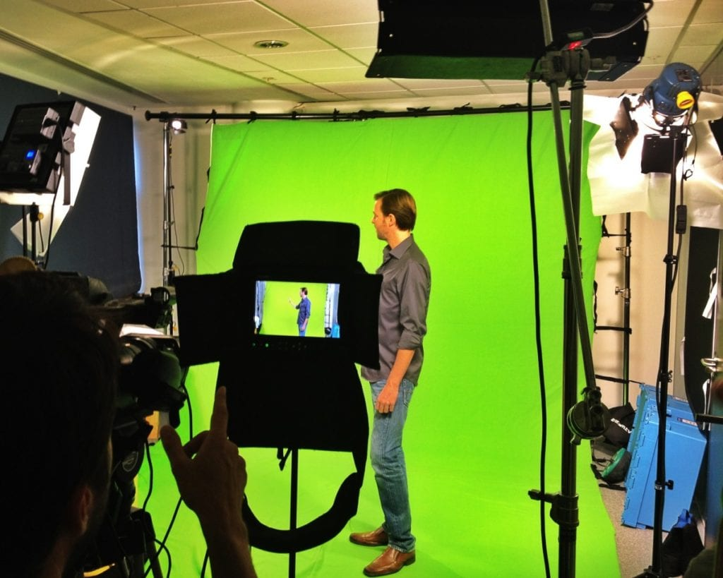 Green Screen filming old street