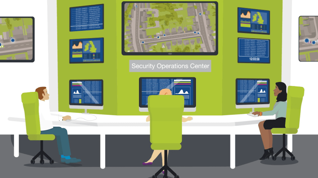 automotive cybersecurity animation