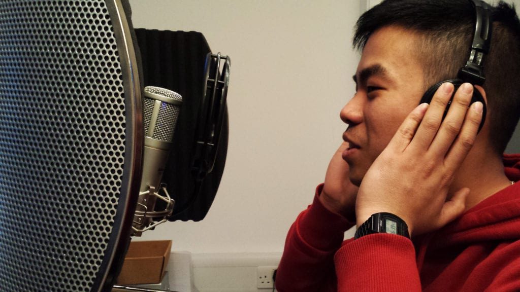 Voice over tips - Jonathan at the microphone